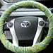 Diagonal Garter Stitch Steering Wheel Cover pattern