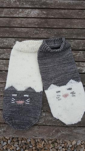 YinYang Kitty ankle socks