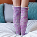 """""""Young at Heart"""" Heart Cable Lace Placket Socks pattern"""