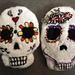 Large Shaped Sugar Skulls pattern