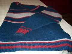 Garter Ridege Sripe Sweater
