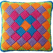 Around the World Square Entrelac pattern