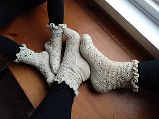 Boutique Custom Made OOAK Fancy Feet Tinkerbell Ruffle Socks
