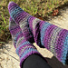 Basic crocheted slipper boots for women pattern