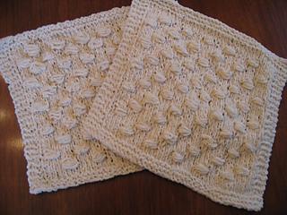 Hobnail washcloths