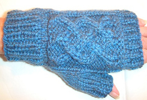 Cable Mitts by Judy M. Ellis, Handiwords Ltd LLC !!}