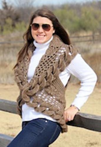 Buffalo Round Up Shrug by Judy M. Ellis, Handiwords Ltd LLC !!}