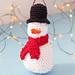 Amigurumi Snowman Ornament pattern