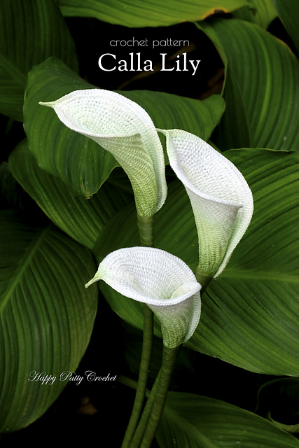 Ravelry Calla Lily Flower Pattern By Happy Patty Crochet