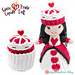 Queen of Hearts Cupcake Doll pattern