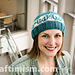DNA double helix knit hat pattern