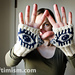 Evil Eye Glove - colorwork version pattern