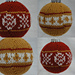 Fair Isle Christmas Balls - X's and O's pattern