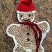 Gingerbread man hotpad/potholder pattern