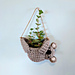 Hanging koala planter pattern