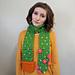 flowering cactus scarf pattern