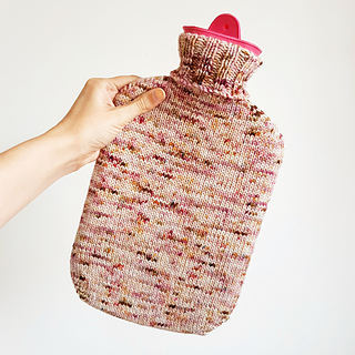 8 ply free knitting pattern for hot water bottle cover