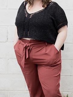 """62"""" garment on 50"""" chest, body length knit to 7"""" before upper body split."""