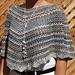 V-stitch poncho pattern