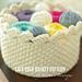 Lace Edge Crochet Basket pattern