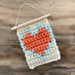 Mini Heart Wall Hanging pattern