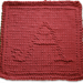 Monogrammed Dishcloth Letter A pattern