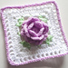 Purple Rose Square pattern
