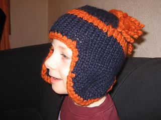 Blue Flap Hat 3