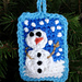 Snow Day Pillow Ornament pattern
