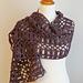 Raspberry Tweed Shawl pattern