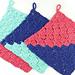 Colorblock C2C Dishcloth pattern