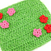 Playing In The Grass Dishcloth pattern
