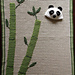 Sleepy Panda Baby Blanket and Hat Set with Bamboo Applique pattern