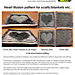 Black & White Valentine Heart Illusion Knitting pattern
