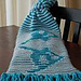 snowboarder illusion scarf pattern