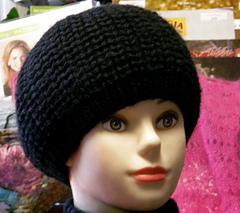 Black reversible beret
