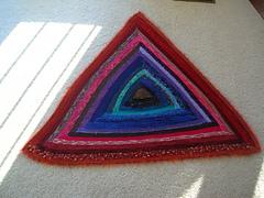 Trinity - the log cabin triangle throw