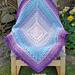 Indigo Lace Blanket pattern