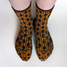 Critter Socks   Jaguar pattern