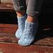 Blue Purl Ankle Socks pattern