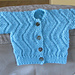 Reversible Ripples Baby Sweater pattern