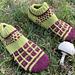 Checkerboard socks pattern