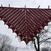 Dragon Scale Shawl, upscaled pattern