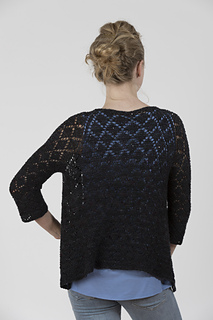 3/4 sleeve version uses extra skein of Merino Cloud (shown in color 907)