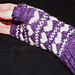 Purple Love Fingerless Mittens pattern