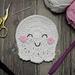 Cute Ghost Coaster pattern
