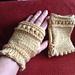 Picot Hem Fingerless Gloves pattern