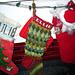 Entrelac Christmas Sock pattern