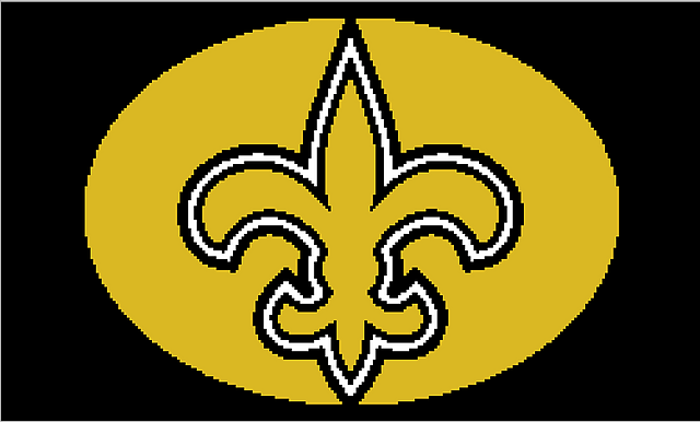 New Orleans Saints Afghan