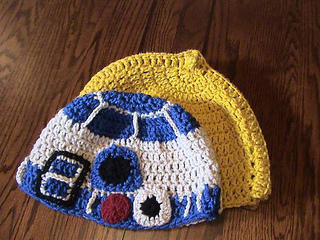 Crochet Pattern Set - R2D2 and Darth Vader Potholders - for beginners | 240x320